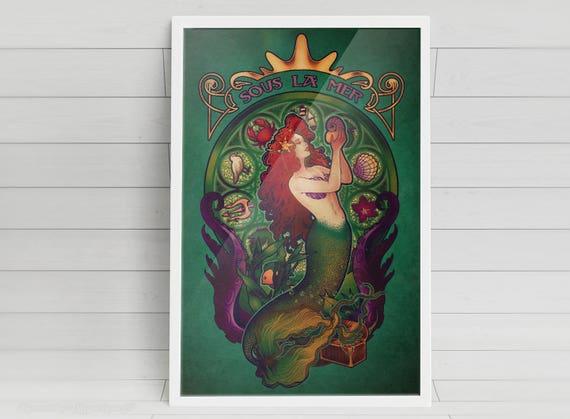 Sous la Mer - Ariel - signed art prints