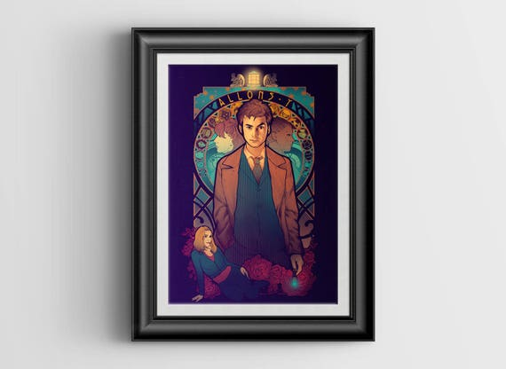 """Allons-y signed art print - A4 Size (about 8.5""""x11.5"""")"""