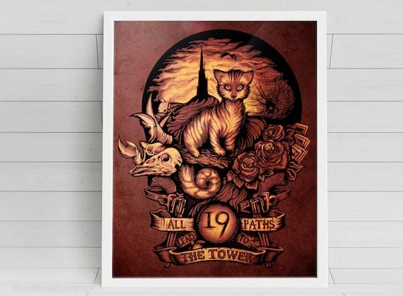 "Nineteen - ""The Dark Tower"" signed art prints"