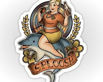 """SPLOOSH! Pam Poovey of """"Archer"""" - Sticker"""