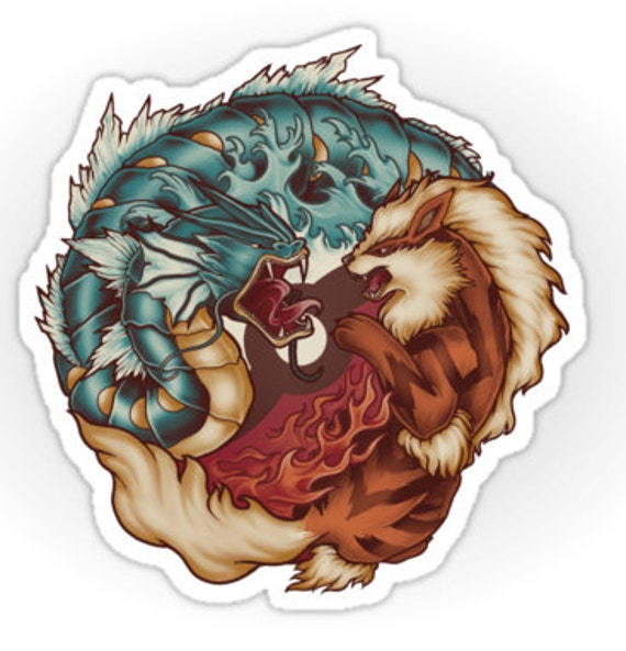 The Tiger and the Dragon - Sticker
