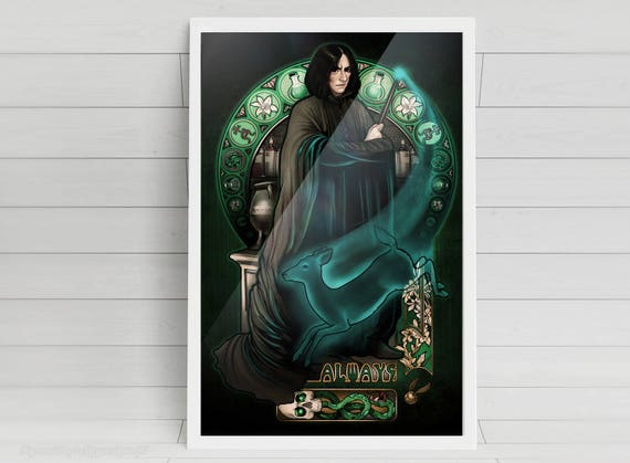 Harry Potter poster harry Potter print Severus Snape art poster