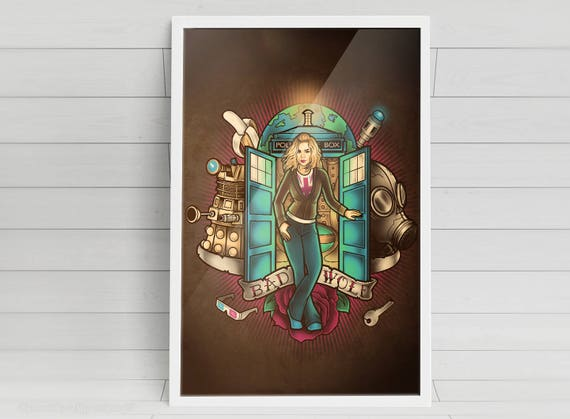 I Am The Bad Wolf - Rose Tyler - signed art prints