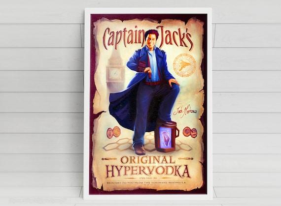 """Captain Jack's Original Hypervodka - """"Jack Harkness"""" signed art prints"""