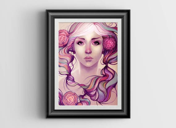"""Caira signed art print - A4 Size (about 8.5""""x11.5"""")"""