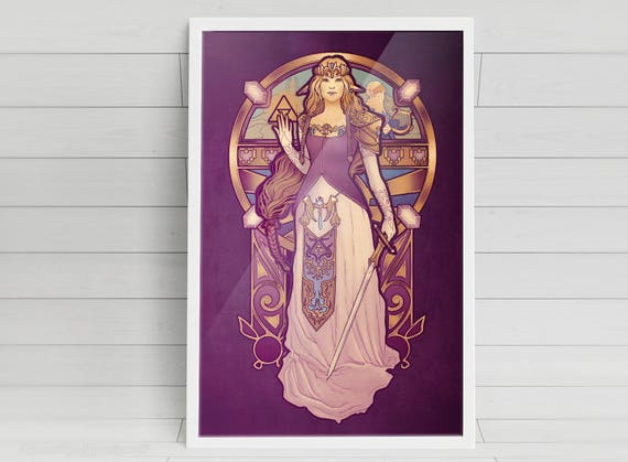 Hylian Nouveau - Zelda - signed art prints