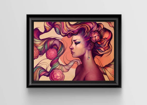 """Leah signed art print - A4 Size (about 8.5""""x11.5"""")"""