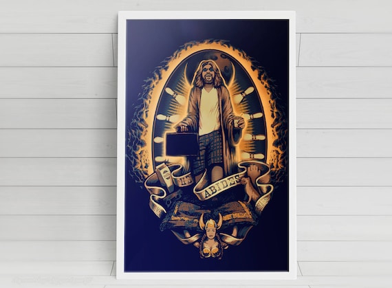 He Abides - Big Lebowski signed art prints