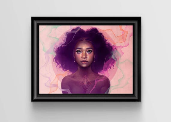 """Facets signed art print - A4 Size (about 8.5""""x11.5"""")"""