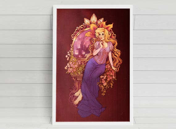 At Last I See the Light - Rapunzel signed art prints