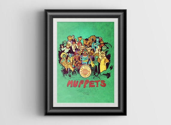 Muppets' Lonely Hearts Club signed miniprint - 4x6