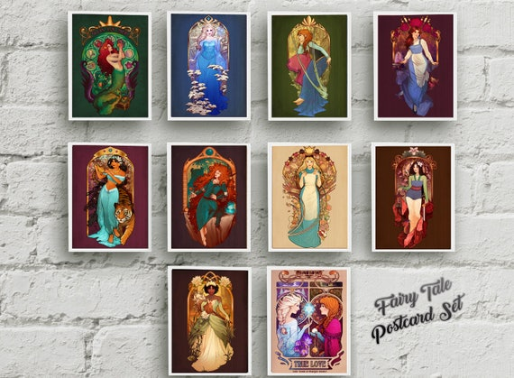 "Fairy Tale Set - TEN Postcards Set - 4""x6"""