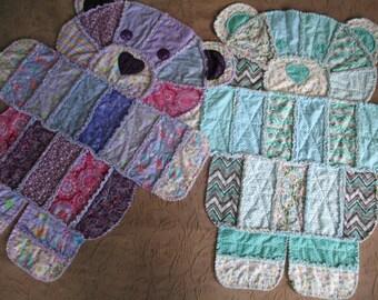 Teddy bear quilt | Etsy