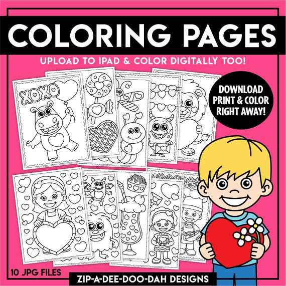 Printable Valentine's Day Coloring Pages