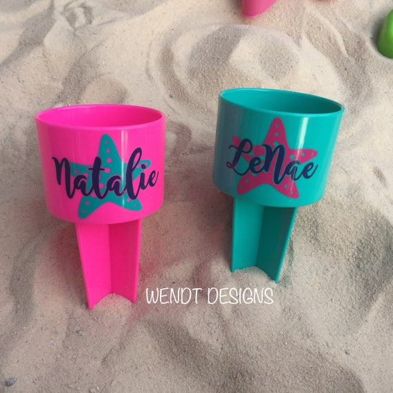 Personalized Starfish Beach Spiker ~ Cup Holder   ~