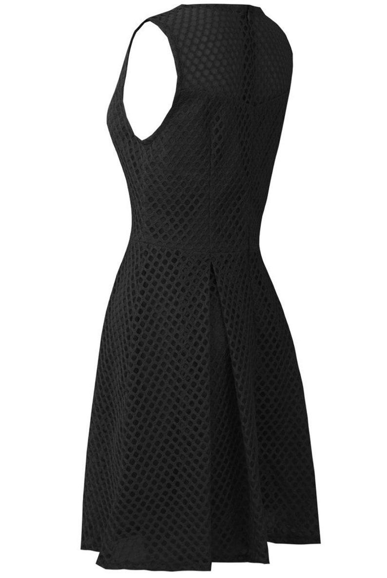 Black Modern Lace Prom Dress AtomikLondon