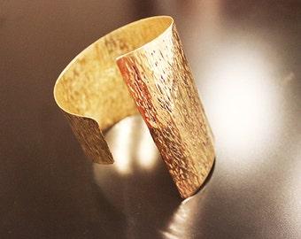 Bracelet ,Big Hammered Metal Cuff