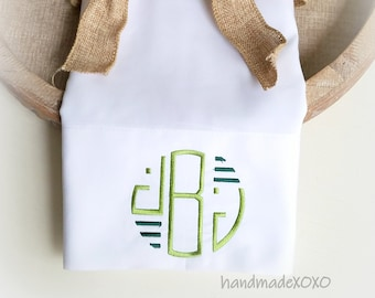 Monogrammed Pillowcase-Embroidered Pillowcases-Personalized Pillowcase-Gift  for Siblings-