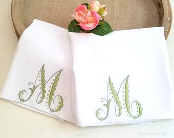 Monogram Pillow Cases-Personalized Pillowcase-