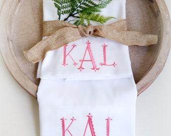 Monogrammed pillowcase-Valentine Gift-Custom Name-Gift Idea for her