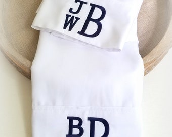 Monogram Pillow Cases- Personalized Pillow case-Couples Pillowcases-Anniversary  gift- Wedding Shower Gift