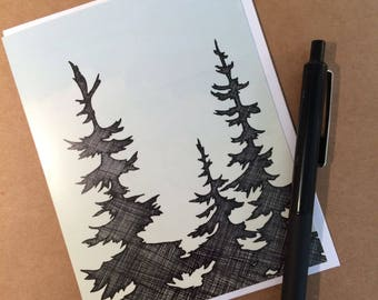 NW Trees Greeting Card