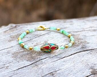 The High Priestess Bracelet Beaded With Lapis Lazuli Etsy