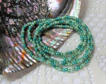 Seed Bead Stretch Bracelet, Wrap Bracelet, Layering Bracelet, Boho Bracelet, Beach Bracelet, Ocean Potion
