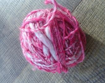 Hand spun wool pink