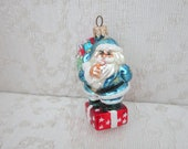 Secret Santa-98-153-1-Christopher Radko Christmas Ornament dated 1998-Discontinued-Great condition