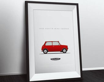 1965 Austin Mini Cooper - 8x10 inch unframed print - Multiple Colors