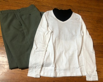 2 lot 1970s COUSIN Eddie Lampoon xmas Christmas vacation vintage outfit any size small medium large xl Sweater shirt  and dickey dickie only