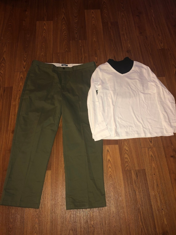 vintage 1970s 1980s Mens green Outfit any size swe