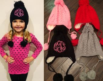 76805bf3408ce8 Monogrammed Toddler Winter Hat