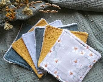 Lingettes lavables   11 * 11 cm   démaquillantes   zéro déchet   bébé   enfant   adulte