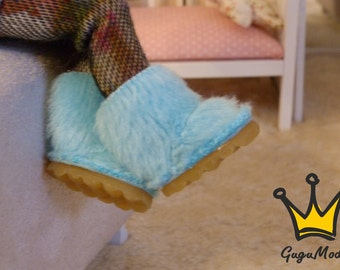 Pukifee/lati yellow fur boots