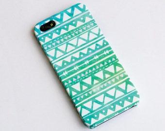 Géométrique Pastel menthe iphone cas iPhone 6 cas, iPhone 5 s cas, cas de l'iphone 4 s, plastique iphone cas