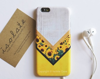 wood with sunflower floral iPhone X case iPhone 8 plus case iPhone 7 case iPhone 6s iPhone 6 plus iPhone SE iPhone 5 case