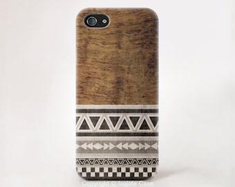 Géométrique sur bois iPhone étui iPhone X 8 plus cas iPhone 8 cas iPhone 7 étui iPhone 6 s iPhone 6 plus cas SE étui pour iPhone 5