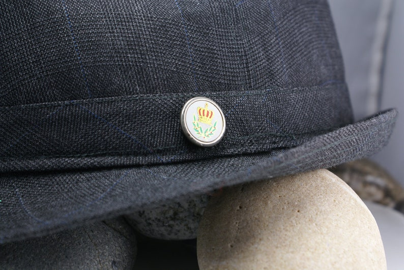 The Original Mag TAK Green Free gift packaging Magnetic Lapel Pin Tie Tack Hat Pin.Vintage Silver Metal Button Gold /& Red