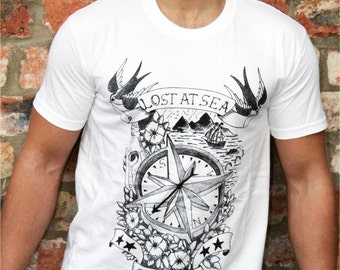 Vintage Tattoo T-shirt - Lost at Sea
