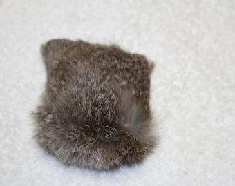 Rabbit fur cat toy--small