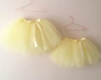 0b83219fb Light yellow TUTU skirt, light lemon girls tutu, flower girl skirt, girls  birthday tutu, bridesmaid tulle tutus, handmade tutu skirts, baby