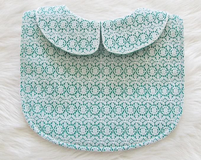 Featured listing image: Green lace bib / lace bib