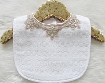 Charlotte Bib - white lace
