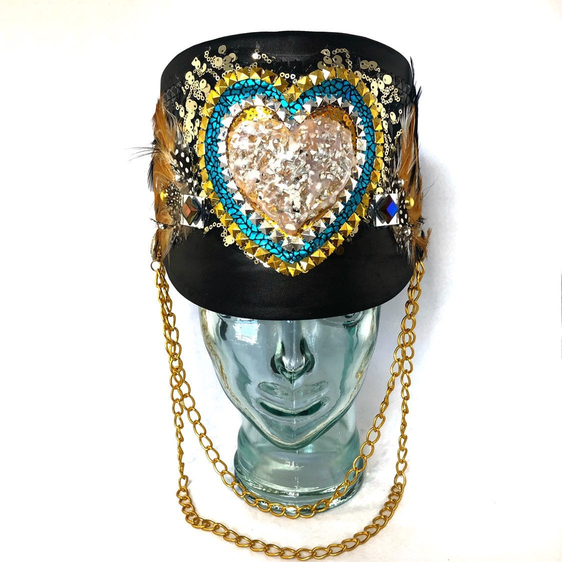 Leader of Love Marching Band Hat, Festival Captain Hat