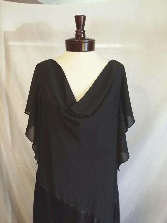 Vintage black formal gown size 22w SL Fashions black evening gown plus size  dress gown vintage clothing size 22w