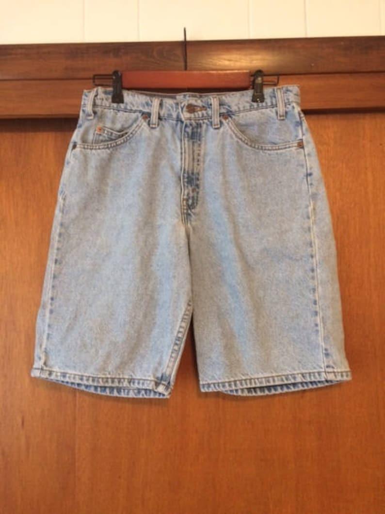 2038acc3 Vintage Mens Levis 550 Relaxed Fit Denim Jean Shorts Light | Etsy