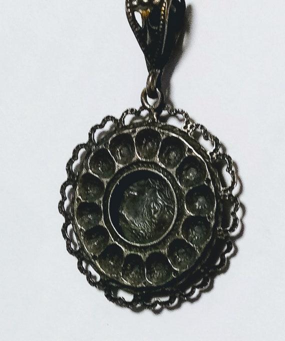 Filigreed Silver Austro Hungarian pendant-Antique - image 4