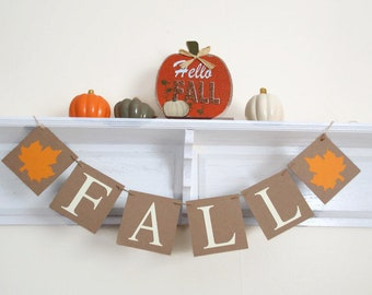 welcome fall banner etsy
